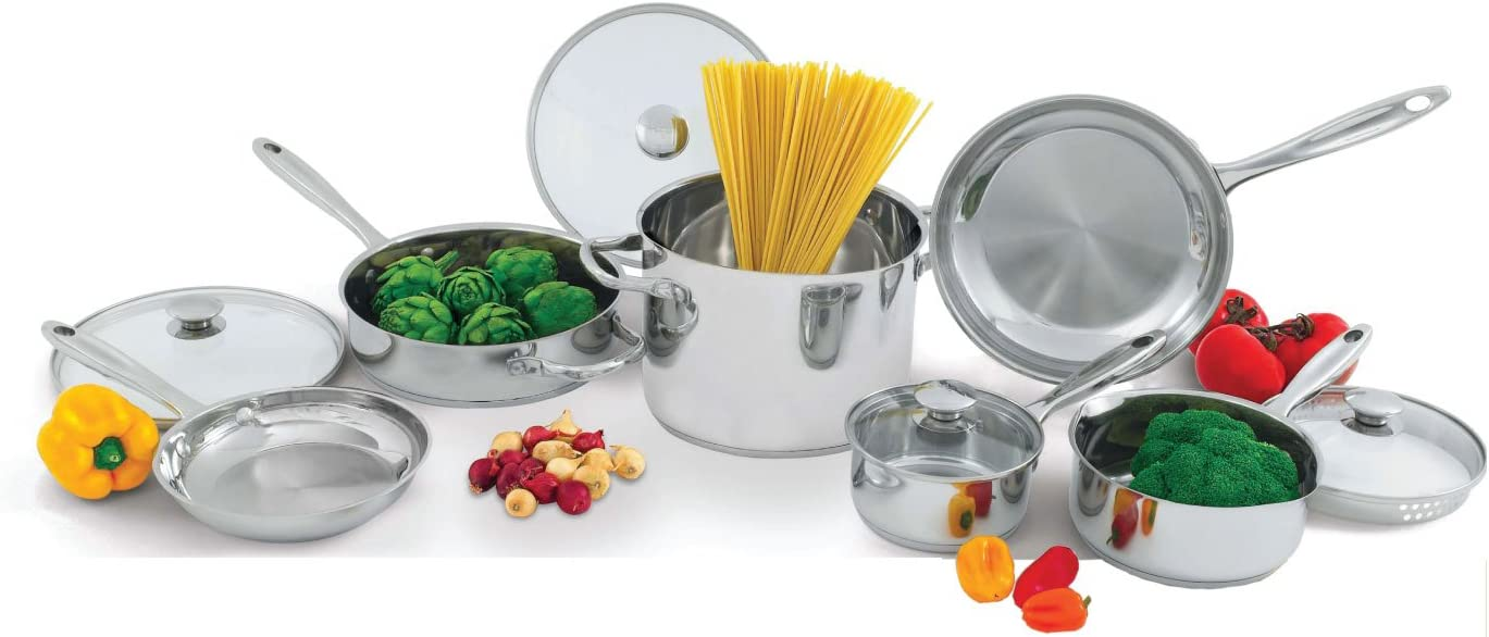 Wolfgang Puck Stainless Steel 10-Piece Cookware Set