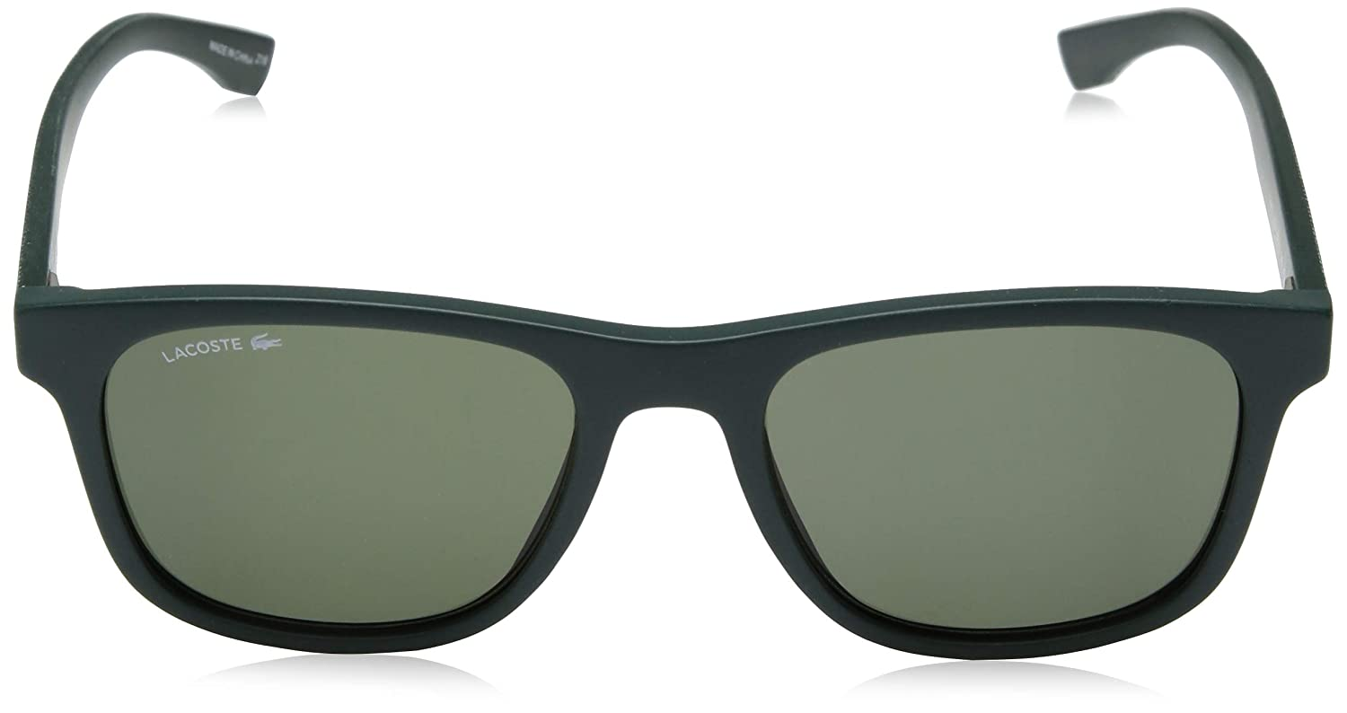 Lacoste Mens L884s Rectangular Sunglasses, Matte Green, 53.11 mm