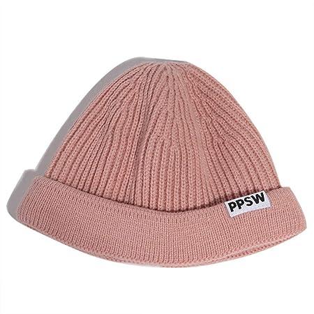 mlpnko Sombrero frío Sombrero de Lana Casual para Hombres Sombrero ...