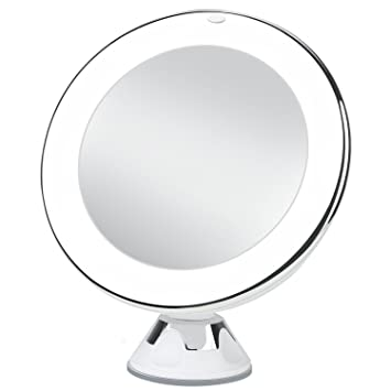 Charmax 68 10x Magnifying Lighted Makeup Mirror With Bag Natural LED Light Bathroom