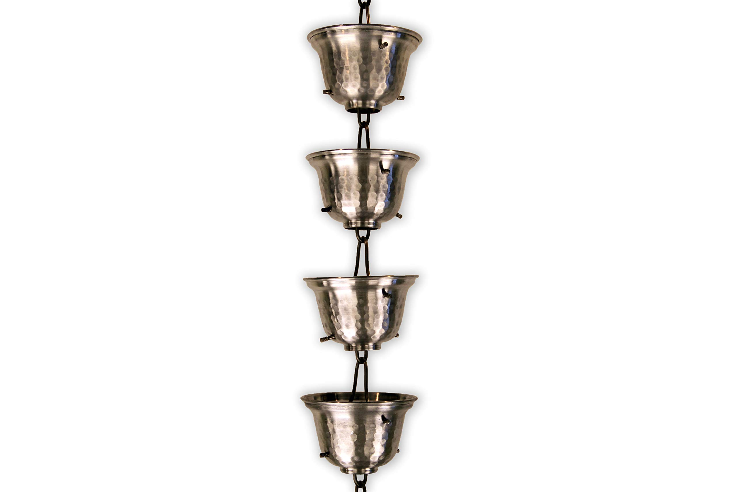 Aluminum Bells RAIN Chain with Installation KIT (10 Foot)
