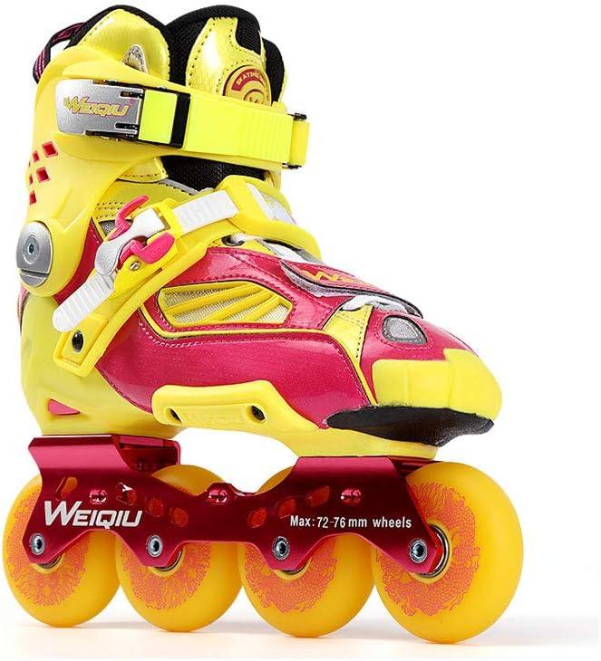 XZ15 インラインスケート、スケート、大人の男の子と女の子、ローラースケート、プロフェッショナル多目的スケート (Color : 黄, Size : EU 36/US 4.5/UK 3.5/JP 23cm) 黄 EU 36/US 4.5/UK 3.5/JP 23cm