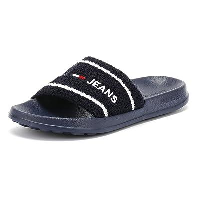 4bac9724ed9 Tommy Jeans Mens Black Iris Summer Slides-UK 7-8  Amazon.co.uk ...