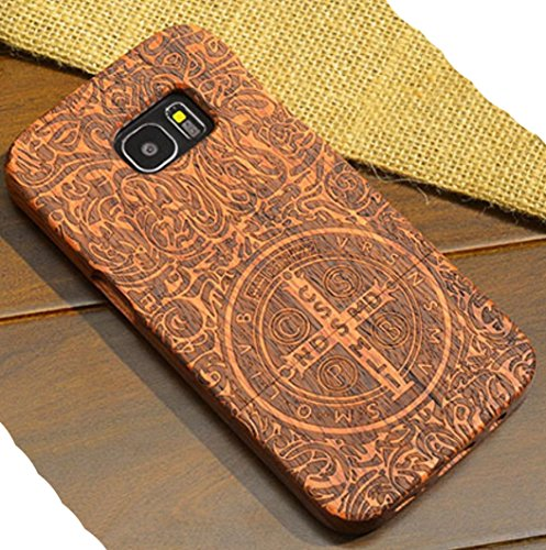 Galaxy S9 Wooden Case, Very Light Slim CSPB CSSML NDSMD VRS NSMV SMQL IVB Catholicism Constantine Manual Wood Cover, WEIFA 2 in 1 Cellphone Case for Samsung Galaxy S9
