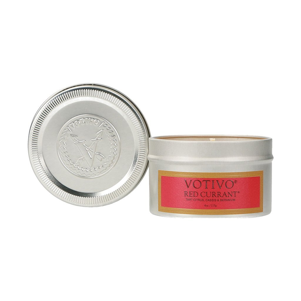 Votivo Aromatic Travel Candle Tin Red Currant, 1 Each
