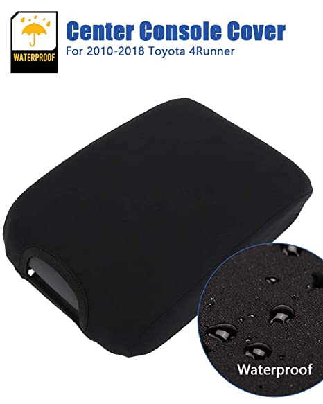 Totyota 4Runner Center Console Armrest Real Leather cover black For 03-09