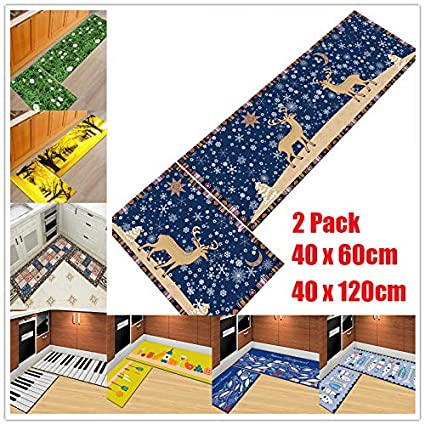 Floral BESTONZON Beautiful Cartoon Patterns Modern Rugs Non-Slip Hallway Kitchen Carpet Rug Runner Rectangular Home Floor Mat 40 x 60cm