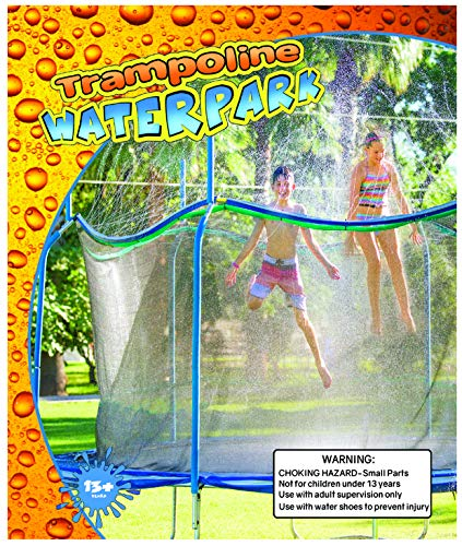 Trampoline Waterpark - Kids Fun Summer Outdoor Water Game Sprinkler -, Green, Si