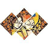 eCraftIndia 'Radha Krishna' Painting (Canvas Print, 127 cm x 43.18 cm, Set of 4, CPGKB49103)