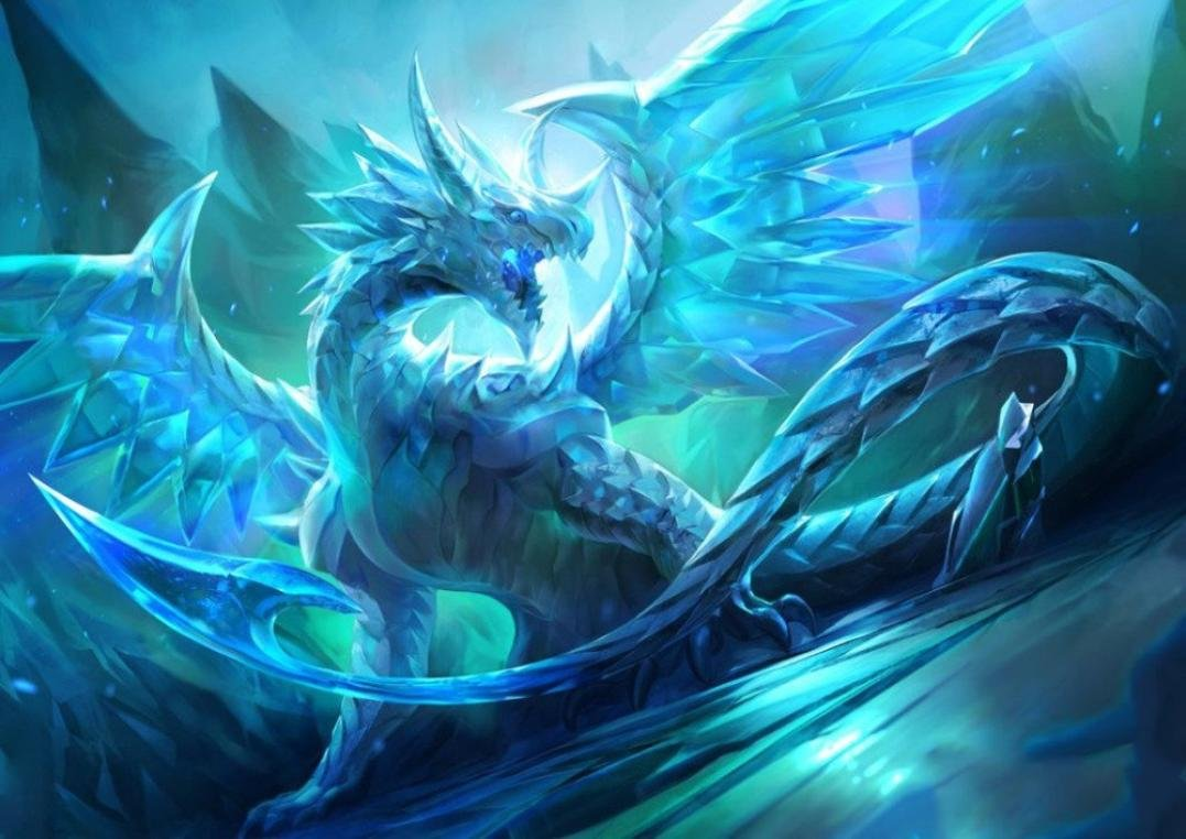 FORESTIME 5D DIY Diamond Painting Embroidery,Full Drill Ice Dragon Stitch Diamond Embroidery Rhinestone Painting Cross Stitch Kit Painting by Number Kits Home Wall Decor (blue, 30×40 cm) 30×40 cm)