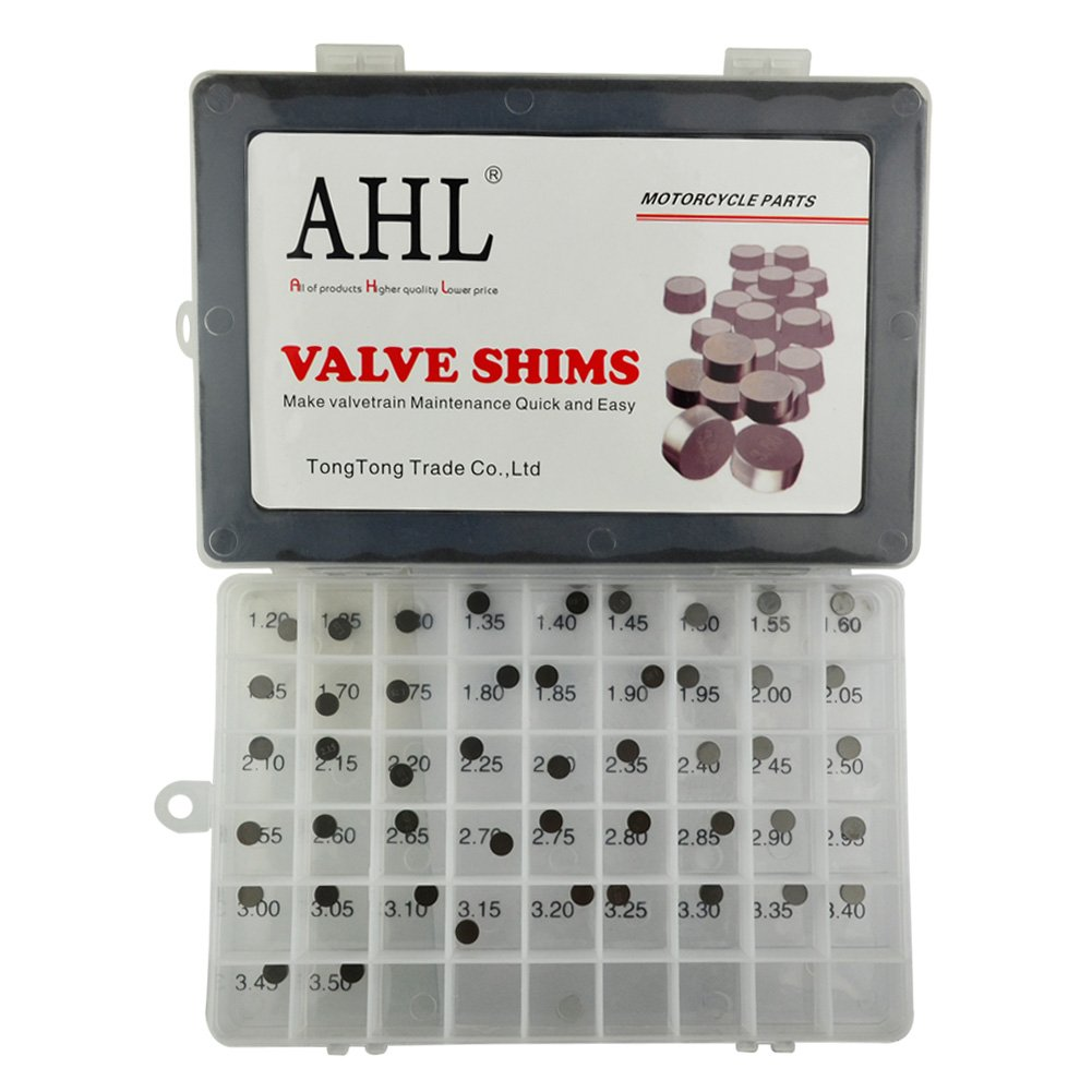 AHL 7.48mm O.D. Adjustable Valve Shim Kit 1.20mm-3.50mm Thick for Yamaha YZ250F YZ250 F 2001-2012 (47pcs) by AHL