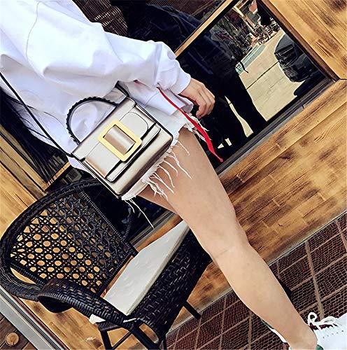 Totes Inclinado Moda Marrón De Cuadrado Bolso Las Pequeño Del Hombro Bolsos Champagne La Señoras TnZZdS7qc