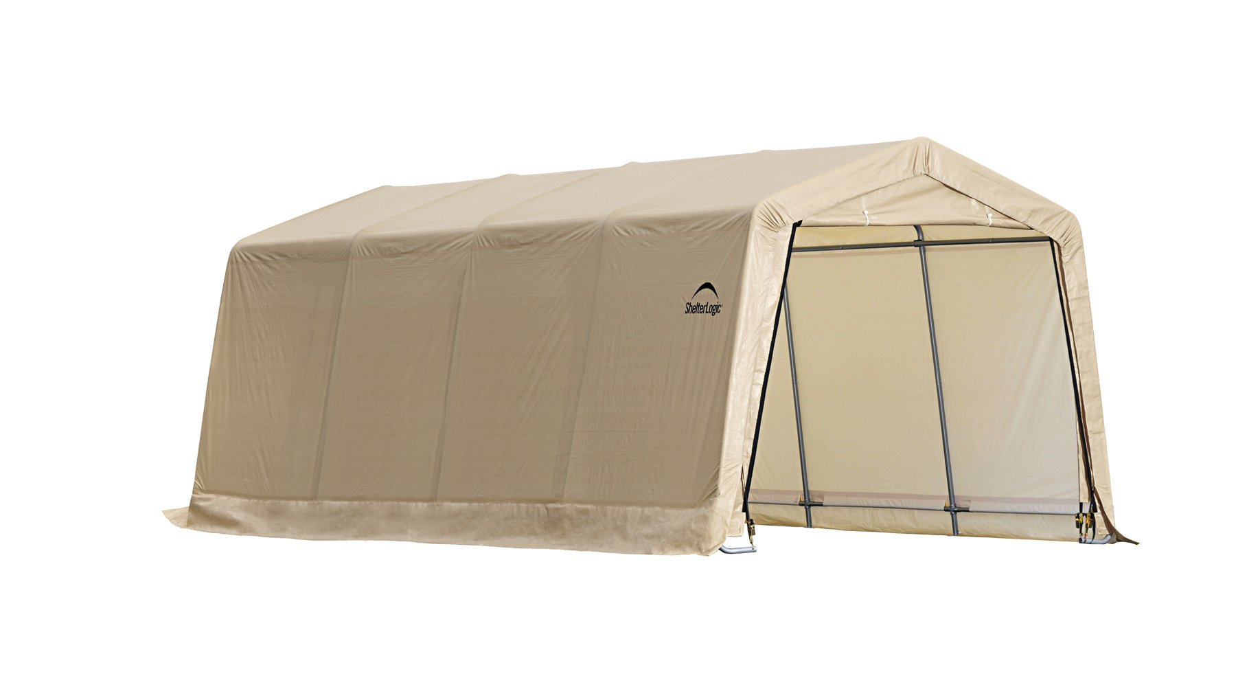 Instant Garage Series AutoShelter 5-Rib 10 ft. x 20 ft. x 8 ft Sandstone Color Cover