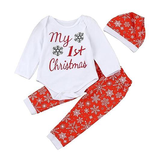 "Odeer ""My 1st Christmas"" Cute Baby Girl Boy Clothes Set Romper  Tops+ - Amazon.com: Odeer"