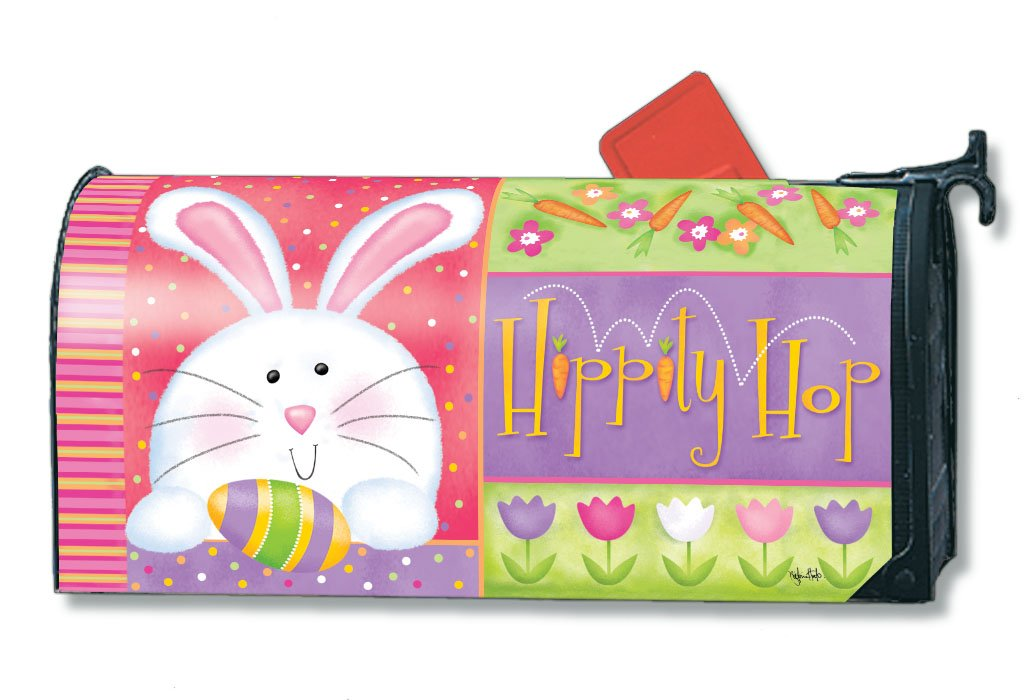ordinary Magnetic Mailbox Covers Part - 13: Amazon.com: MailWraps Hippity Hop Easter Magnetic Mailbox Cover: Garden u0026  Outdoor