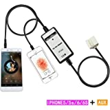 Aux interface,Yomikoo Iphone5+AUX Car Mp3 Player Digital Music AUX in Adapter iphone 5 6 Plus Charging for Honda 2.4 Accord 2003-2011 Civic 2006-2010 Acure CSX 2006-2011 MDX 2005-2006