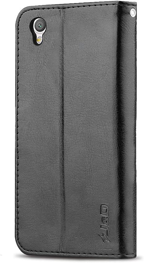 kompatibel mit Sony Xperia L1 H/ülle,3D Bunt Gemalt Muster Tasche Leder Flip Waset Case Brieftasche Etui Schutzh/ülle PU Leder Flip H/ülle Handytasche f/ür Sony Xperia L1,Blau Feder Traumf/änger