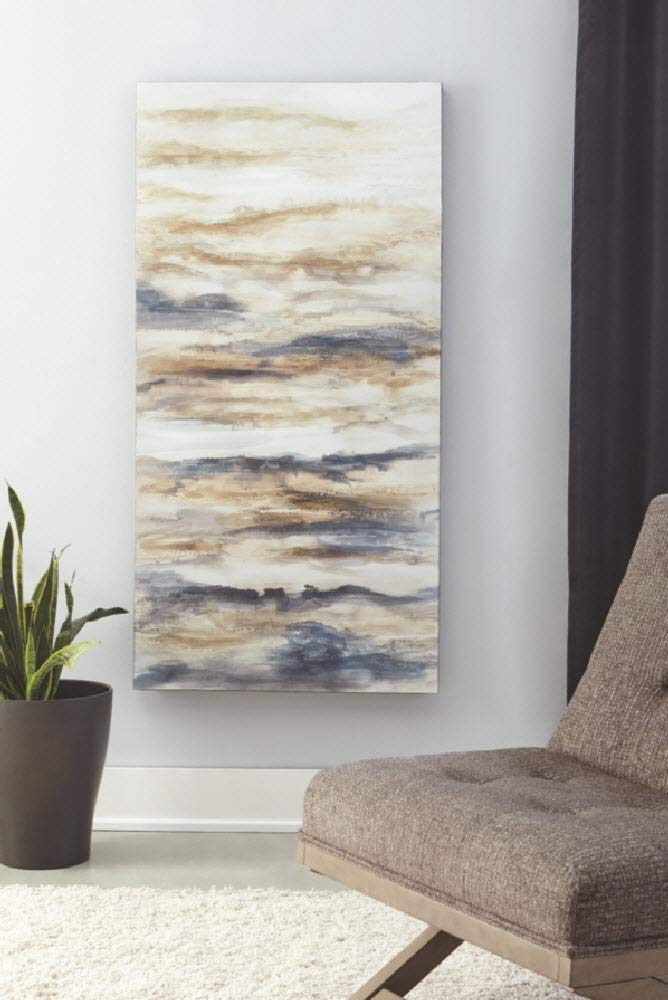Contemporary Blue//Tan Joely Abstract Wall Art Ashley Furniture Signature Design