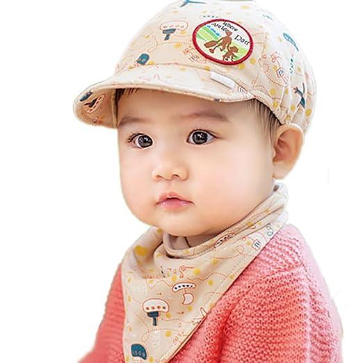 Amazon.com  ThreeH Baby Baseball Cap Soft Brim Sun Hat with Bandana ... 2569346f793