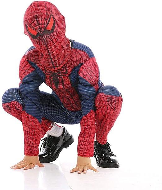 KOUYNHK Disfraz Spiderman Niño, Carnaval Superhéroe Traje ...