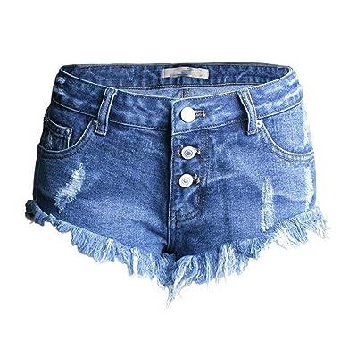 Agujeros Irregulares para Mujeres para Cher Cortos Pantalones Niñas De Moda Completi Moda Pantalones Vaqueros Pantalones Vaqueros Cortos para Mujer Pantalones De Verano Elegantes con Flecos: Ropa y accesorios