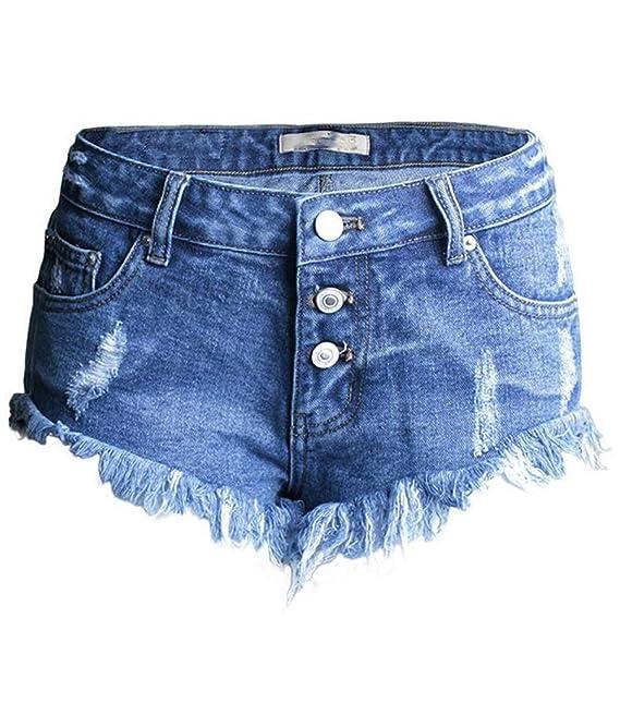 Agujeros Irregulares para Mujeres Cher Pantalones Cortos ...