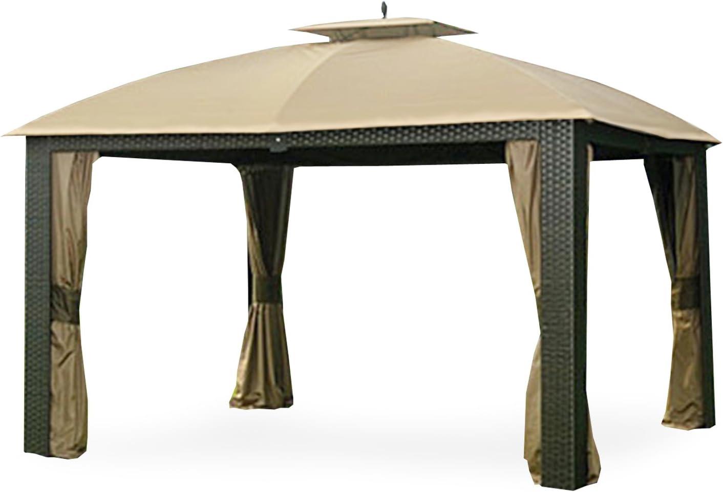 Garden Winds Replacement Canopy for The Sonoma Riviera Wicker Gazebo - Standard 350 - Beige