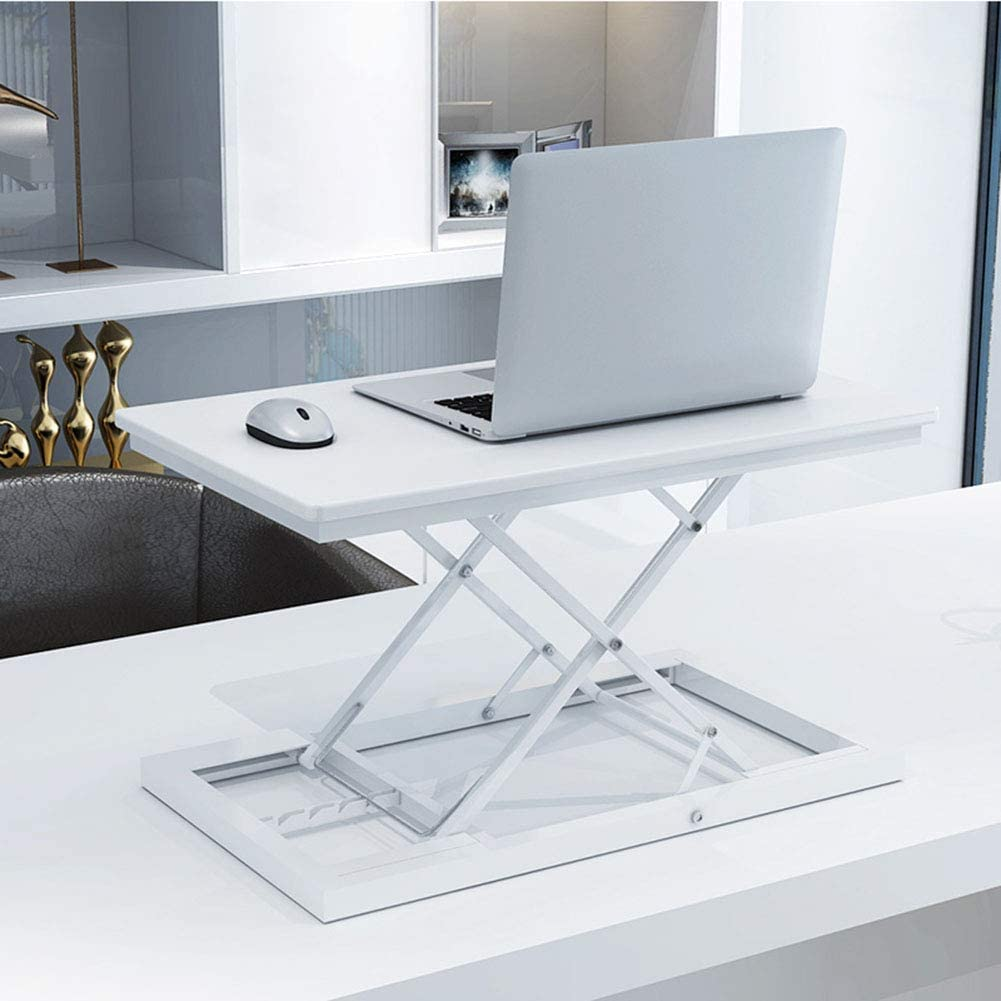 ZC-HZW Laptop Support Stand-Up Bracket Multi-Function Office Simple Lift Holder Ergonomic Notebook Stand,Gray
