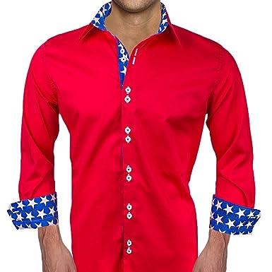 fa76462e Patriotic Designer Dress Shirts - Made in USA at Amazon Men's ...