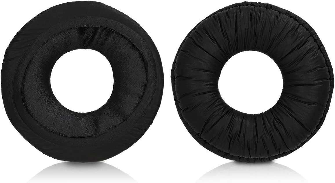 kwmobile 2X Earpads for Sony MDR-ZX110 MDR-ZX310 Black PU Leather Replacement Ear Pads for Over-Ear Headphones