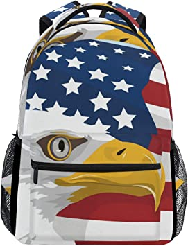 New Animal Eagal Backpack Red School Laptop Friendly Bag