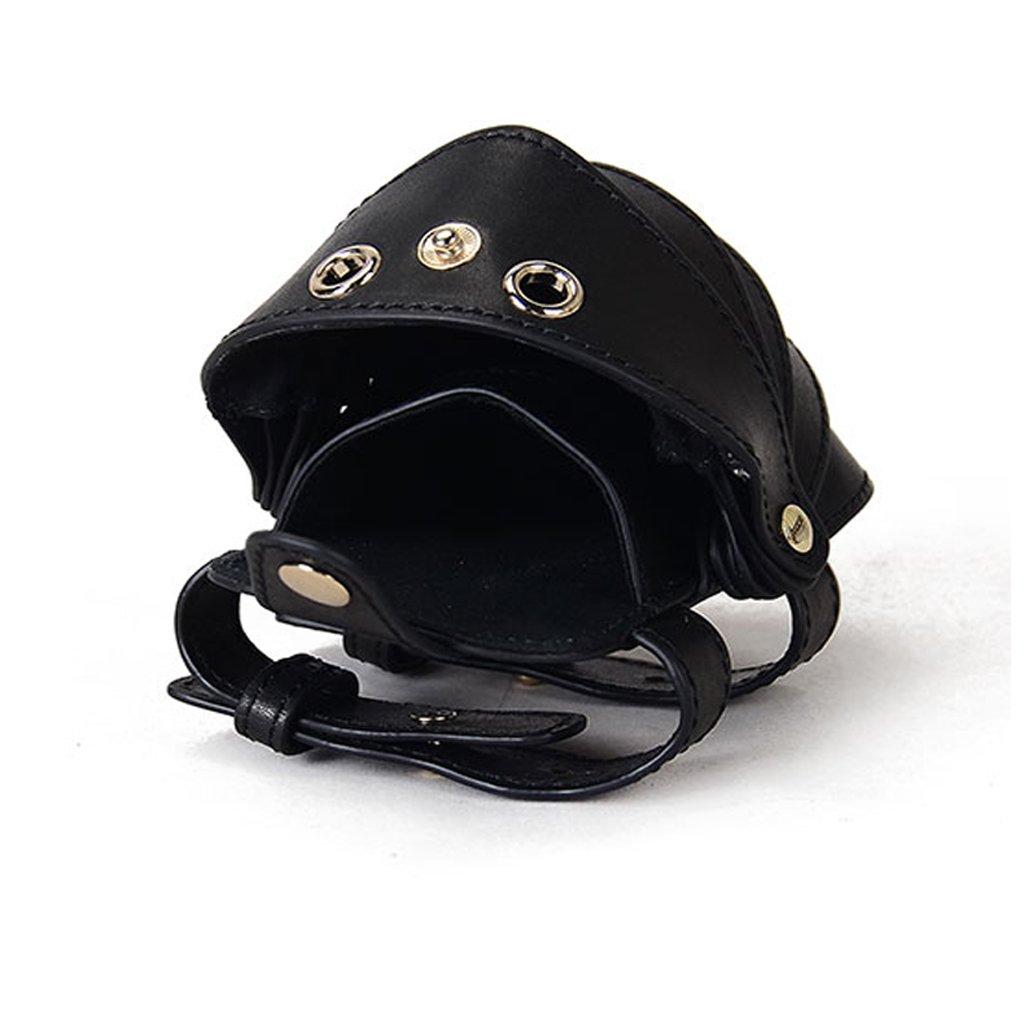 HUACANG Leather Hand Bag Wrist Bag Insect Shape Casual Armband Phone arm with Key Bag Certificate Bag Sleeve Multi-Function Bag, Black, Brown (Color : Black)