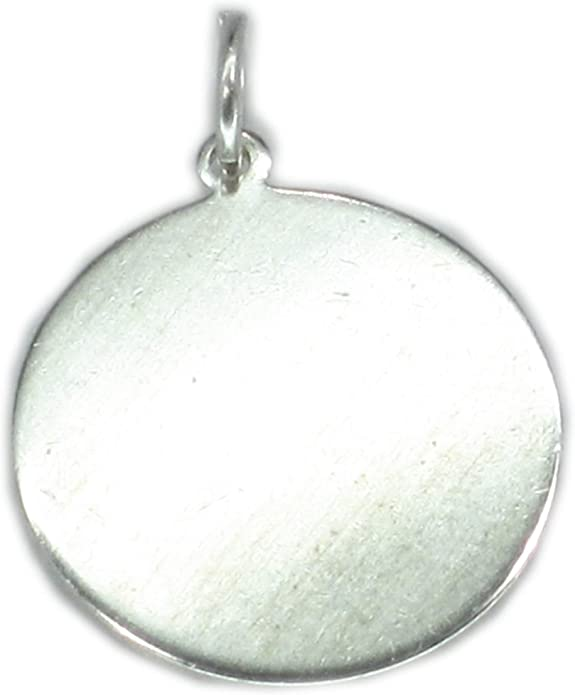 Coin Sterling Silver Coin Disc Pendant 1 pc Silver Charms 925 Silver Charms