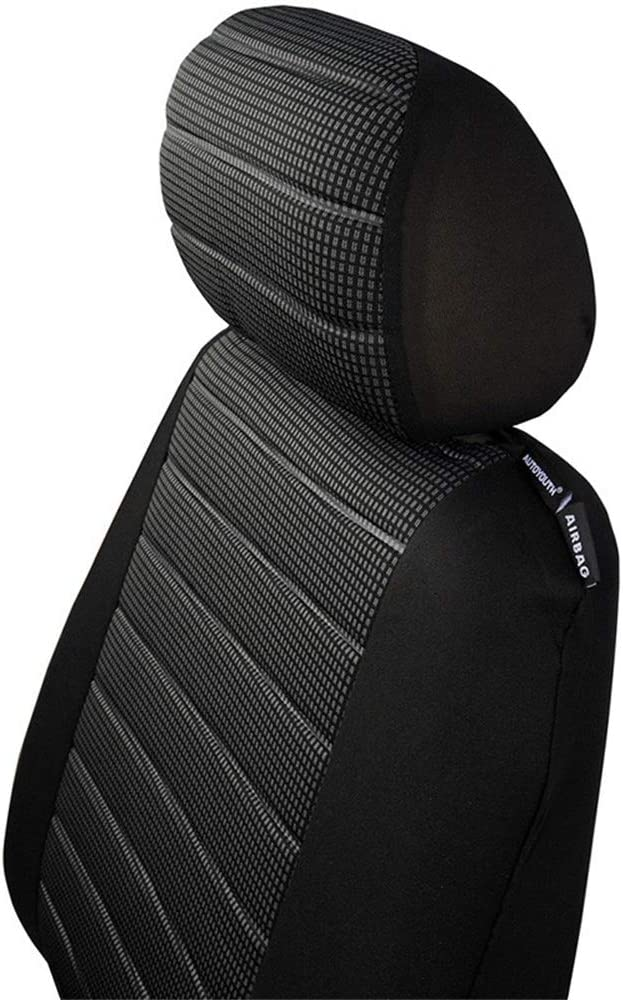 QXCOM Auto Full Coverage Seats Covers Flax Fiber Car Seat Cover for Fords-MAX smax mk2 Taurus Focus st Fusion Explorer f150 Fiesta st Capri