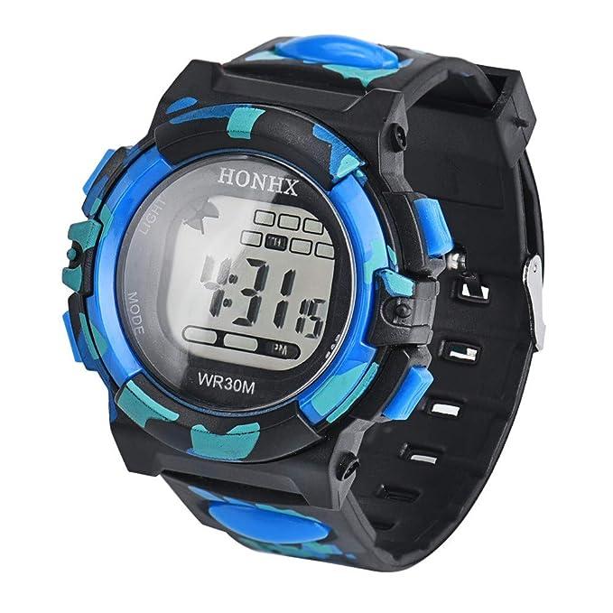 Digital Reloj Deportivo para Hombres y mujery moda Camuflaje Relojes inteligentes Resistente contra Agua 50m deportes al aire libre Esquí,montañismo, ...