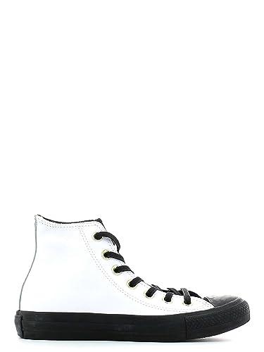 9335019e4b32d CONVERSE - Chaussures Converse Chuck Taylor All Star unisexe peau  caoutchouc blanc et noir 146632C -