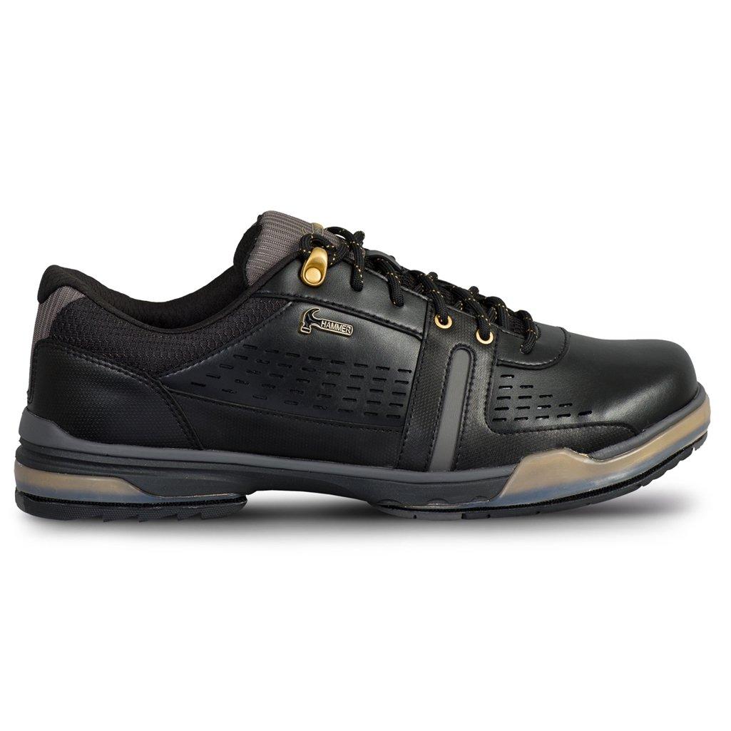 KR Strikeforce Men's Hammer Boss Wide Width Performance Bowling Shoes, Black/Gold, Size 8