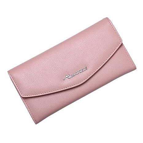 Monedero de bolsillo para mujer Cartera para mujer Cuero ...
