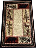 Cheap Dean Cade's Cove Bear Lodge Cabin Area Rug 5'3″ x 7'3″