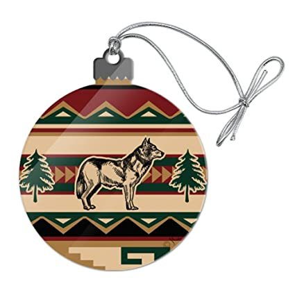 Native American Christmas Ornaments.Amazon Com Graphics And More Wolf Wolves Southwestern