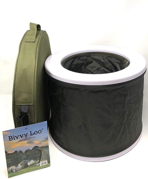 Inodoros para Acampar al Aire Libre Inodoro para Festivales Soporta m/ás de 150 kg Bivvy Loo Inodoro port/átil Azul con Gorra Inodoro para Acampar Inodoros port/átiles