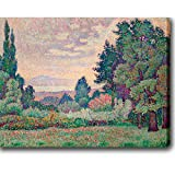 This museum quality canvas art is painted with vibrant colors and fine details. Gallery wrapped and ready to hang, it is absolutely beautiful and will bring you endless complements.Artist: Jean MetzingerTitle: Paysage aux deux CypresProduct type: Gal...