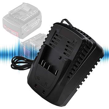ASHATA Cargador de batería para Bosch, 4V-18V Cargador de ...