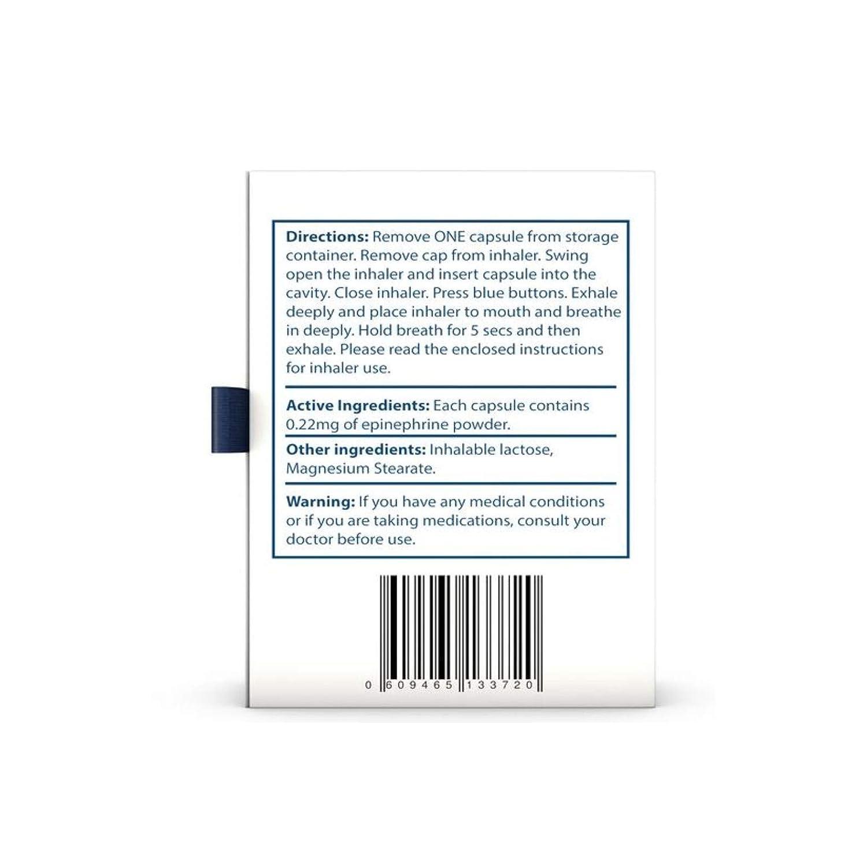 Pharma Genrx Prima Flow For Asthma Allergy Relief Otc Epinephrine Dry Powder Dispenser 022 Mg Of Epinephrine