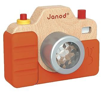 Amazon.es: Janod Madera Juguete - Cámara con sonido y luz de fotógrafo habitación de los Niños Decoración, multicolor