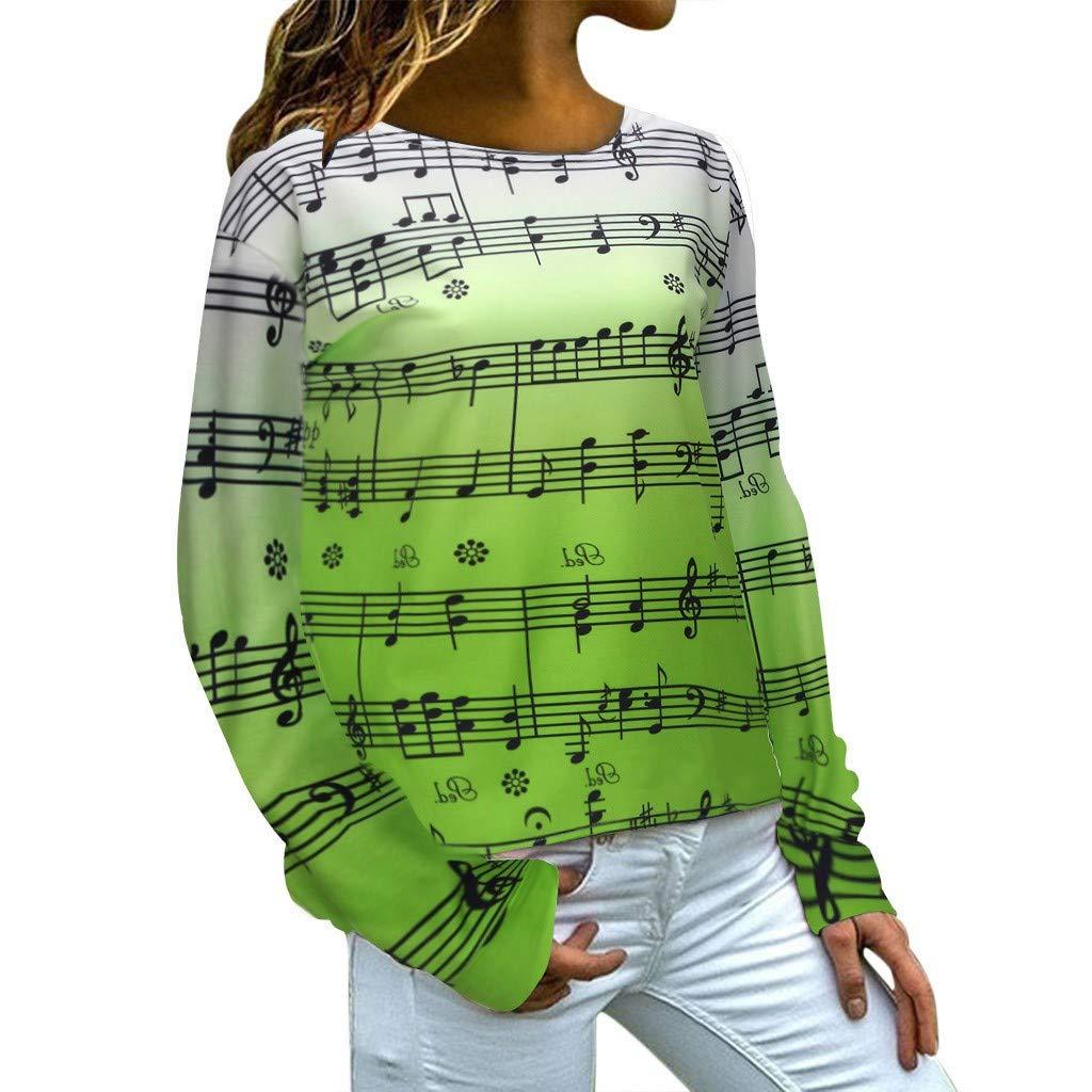 Women Plus Size Hooded Pullover Tabs Not Print Long Sleeve Tops Blouse Tunics Sweatshirt Green by Exteren