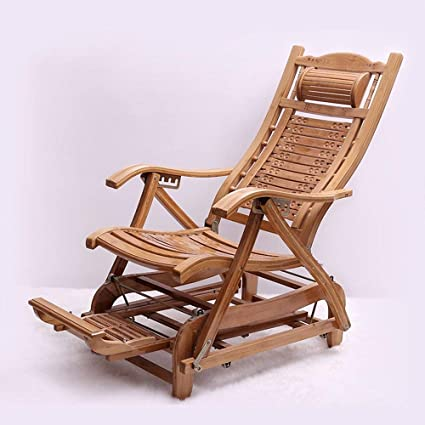 QTQZ Silla de balancín de bambú Mecedora Plegable Silla de ...