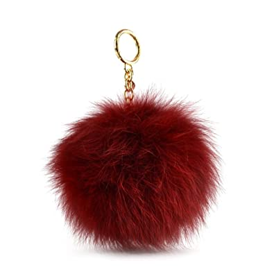 069f7cf7d5f39 Image Unavailable. Image not available for. Color  Michael Kors Womens Faux Fur  Pom Pom Fashion ...