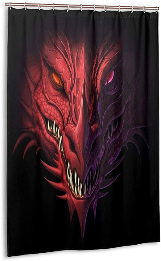 Bathroom Decoration Cool Dragon Polyester Shower Curtain Bath Curtain 60x72 Inch