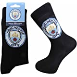 2 PAIRS OF OFFICIAL FOOTBALL TEAM SOCKS (6 to 11 MENS, MANCHESTER CITY)